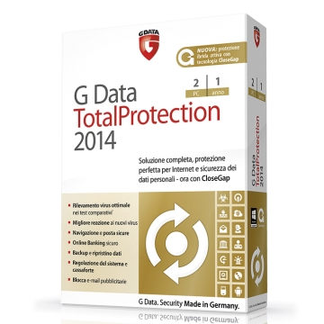 G DATA TOTALPROTECTION 2014 2 UTENTI