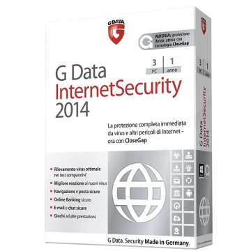 G DATA INTERNETSECURITY 2014 3 UTENTI